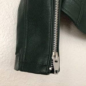 Blank NYC Jackets & Coats - Blanknyc Green Moto Leather Jacket